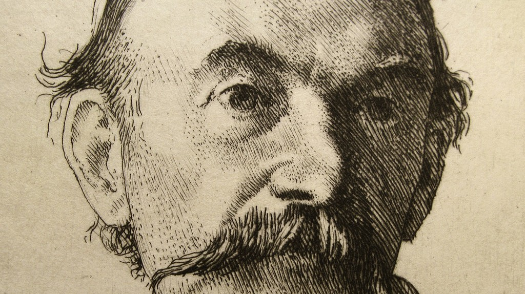 1893 Etching of Thomas Hardy